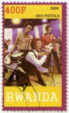 RWANDA - 2009: shows Sex Pistols