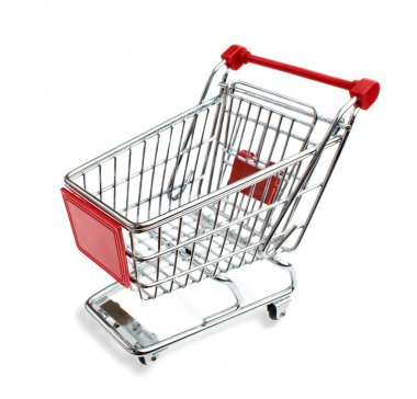Supermarket trolley stock vector