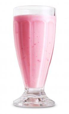 Pink milk shake