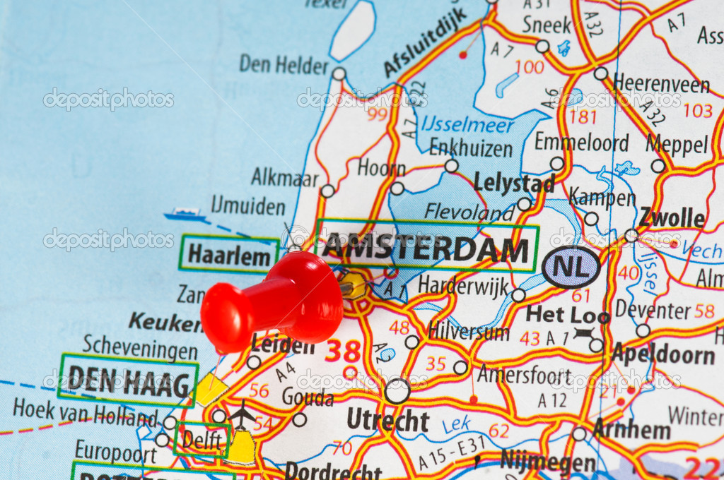 amsterdam karta Amsterdam em um mapa — Stock Photo © valphoto #21572945 amsterdam karta