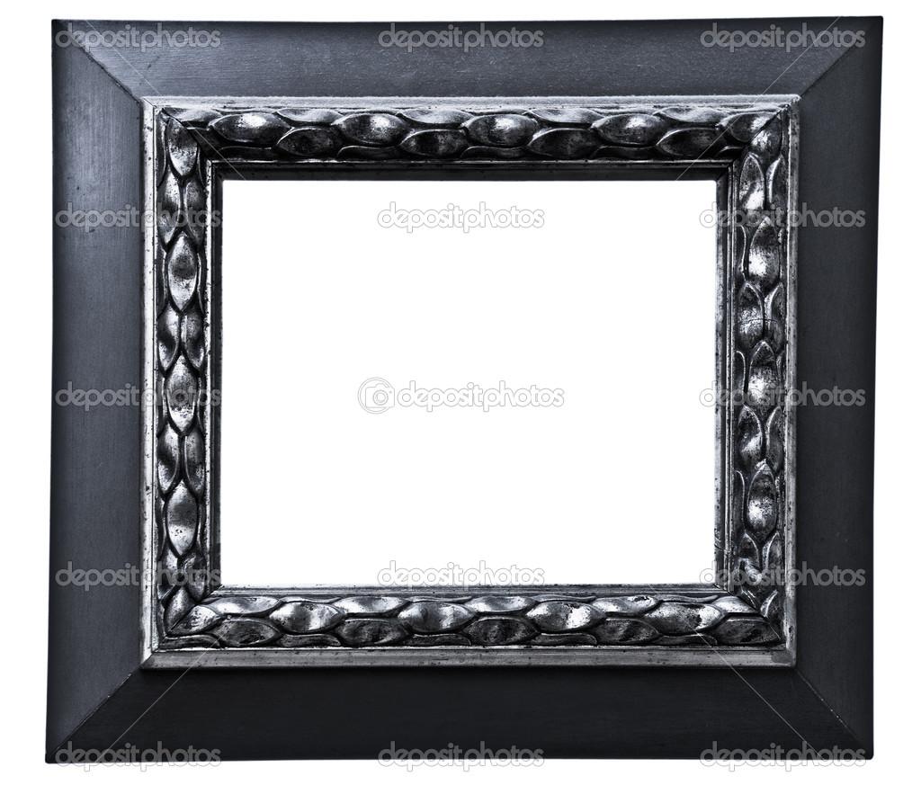 marco de plata Vintage, aislado en blanco — Foto de stock © valphoto ...