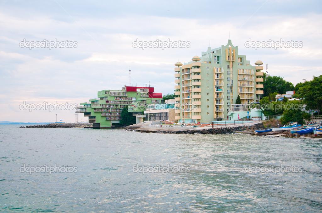 summer house on the sea coast