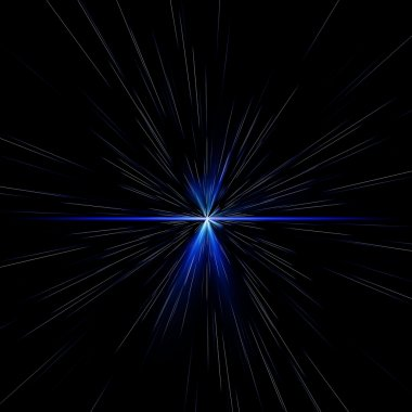 lights and shining stars blue abstract background