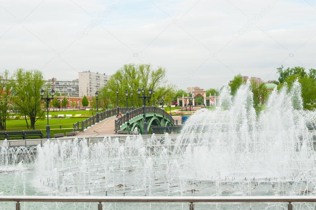 Moscow, fountain in Tsaritsyno