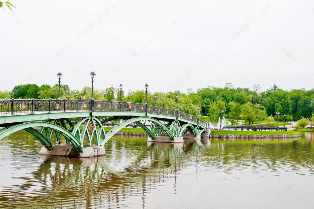 Green Bridge in Tsaritsino Park, Moscow