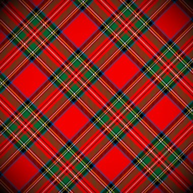 Royal Stewart tartan / vector illustration with detailed texture stock vector