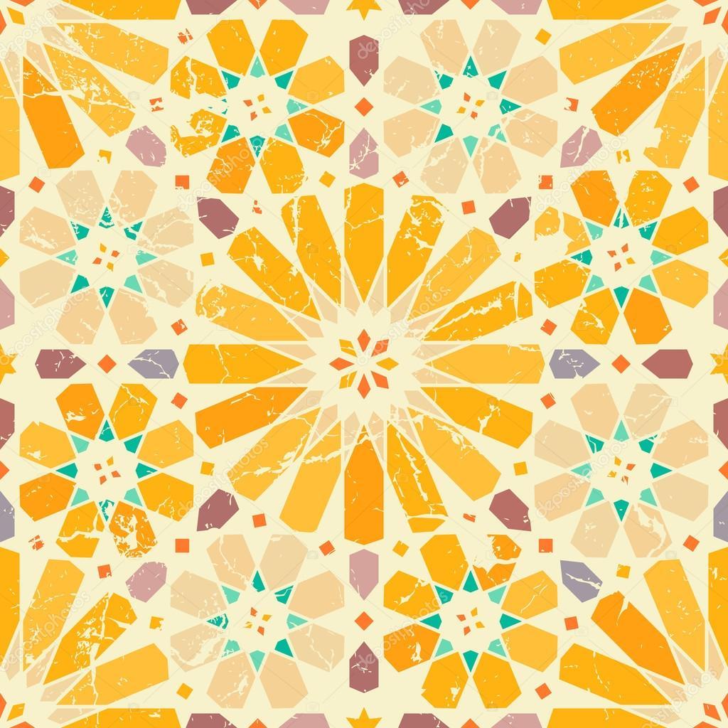 Vintage arabic seamless pattern
