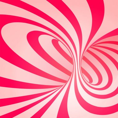 Candy cane sweet spiral abstract background stock vector