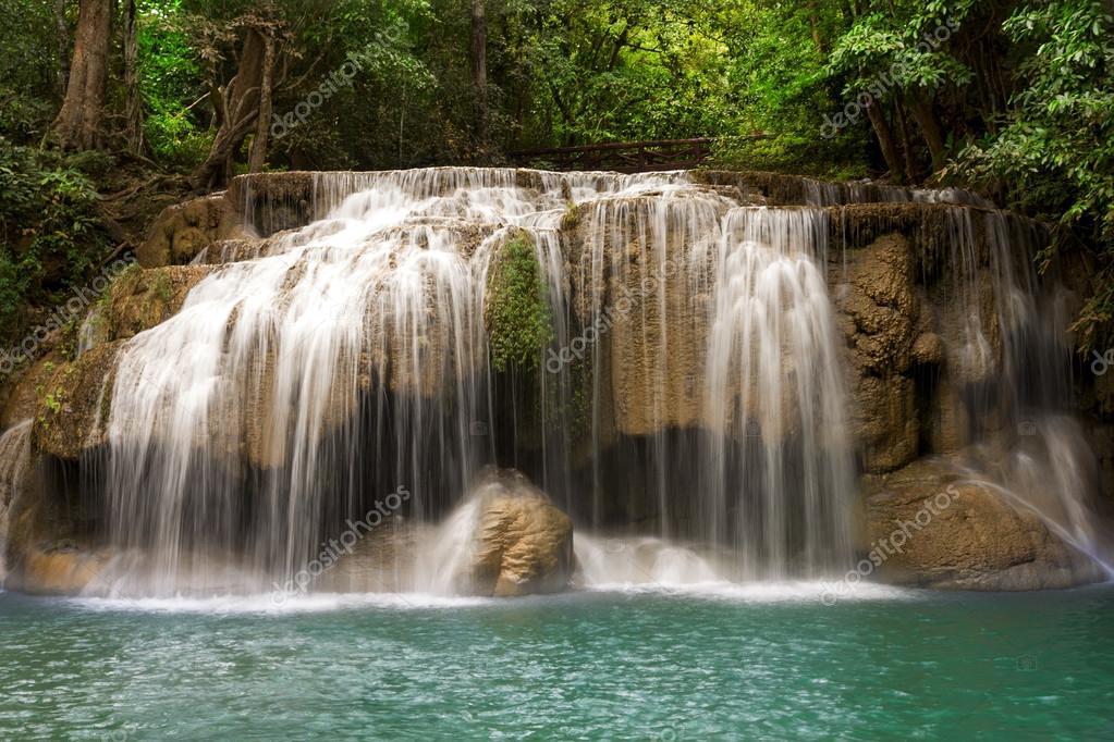 Фотообои Erawan Waterfall, Kanchanaburi, Thailand