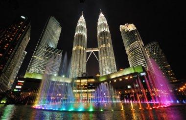 City skyline of Kuala Lumpur, Malaysia. Petronas Twin Towers.