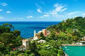 Portofino vesnice na Ligurském pobřeží, Itálie