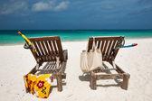 bellissima spiaggia a Maldive