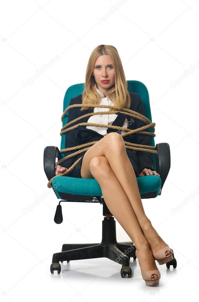 tied to chair