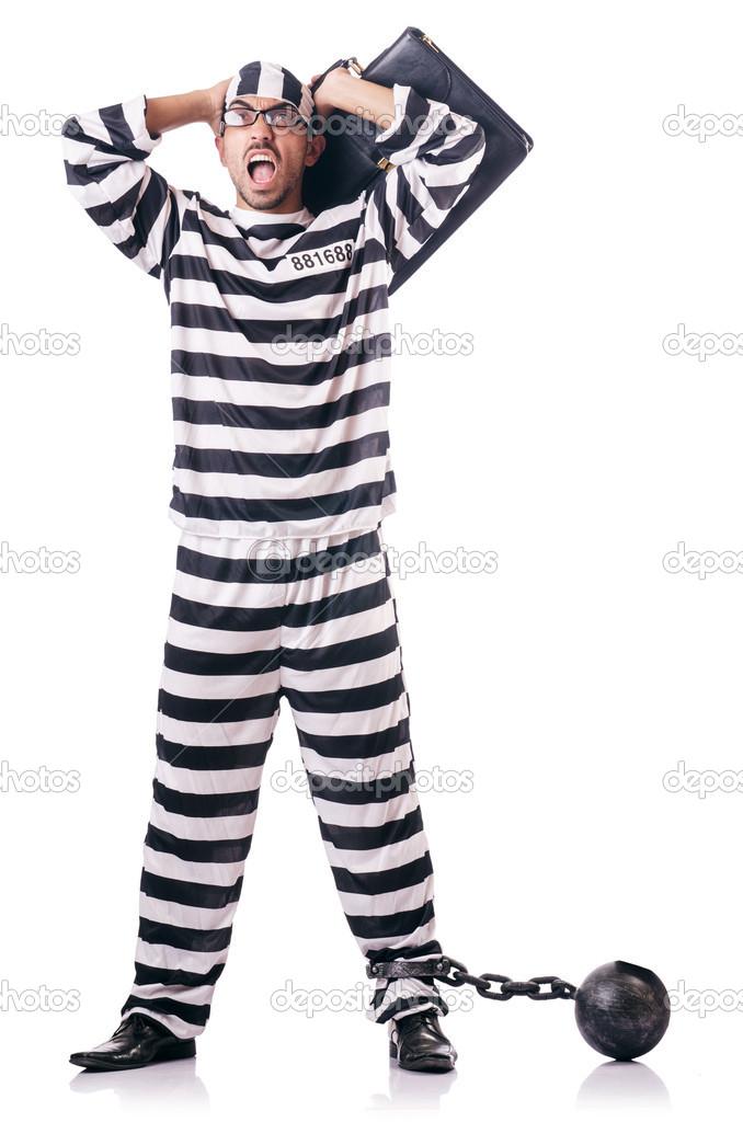 ca026be49c03 odsouzený zločinec v pruhovaných uniformách — Stock Fotografie ...