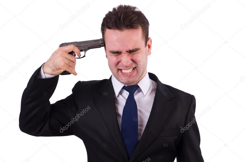 Человек стреляет себе в голову картинка