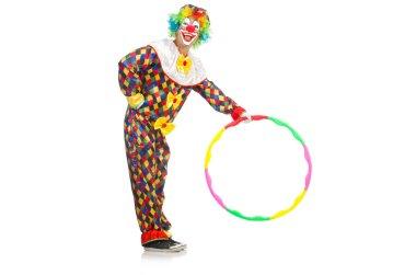 Clown with hula hoop