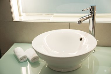 Modern sink in the bathroom