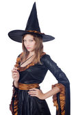Photo Witch isolated on the white background