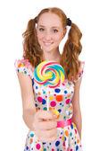 Fotografie Hübsches Mädchen mit lollypops