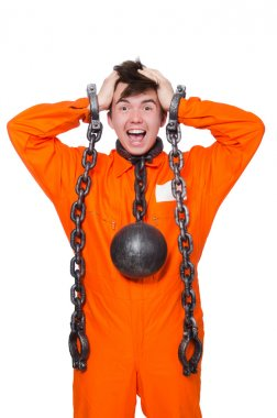 Young inmate with chains