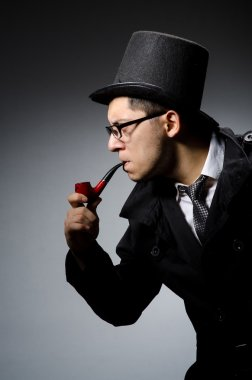 Detective with pipe