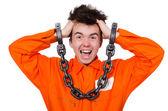 Fotografie Funny prison inmate