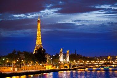 Alexander the Third bridge is popular touristic site in Paris.