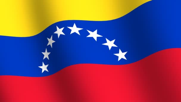 Waving flag of Venezuela