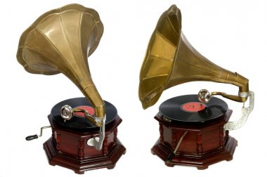 Isolated vintage gramophone