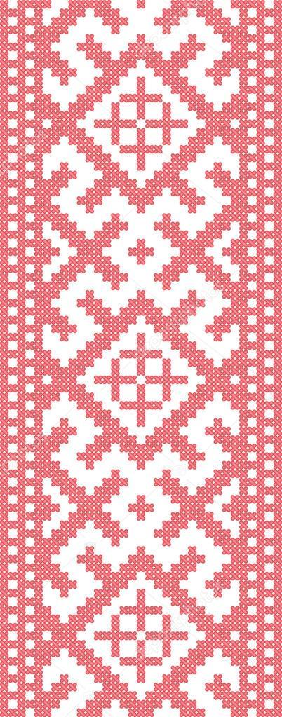 patrón bordado ruso — Archivo Imágenes Vectoriales © leonikonst ...