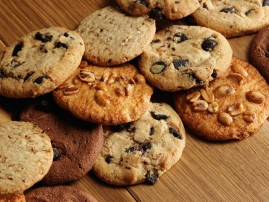cookies over wooden background