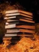 verem a könyvek az égő tűz