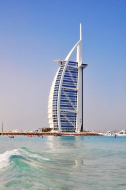 DUBAI, UAE - JUNE 8: Burj Al Arab hotel on June 8, 2012 in Dubai. Burj Al Arab is a luxury 5 star hotel built on an artificial island in front of Jumeirah beach.
