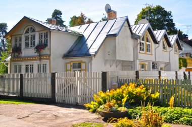 House at sunny day in Yurmala, Latvia