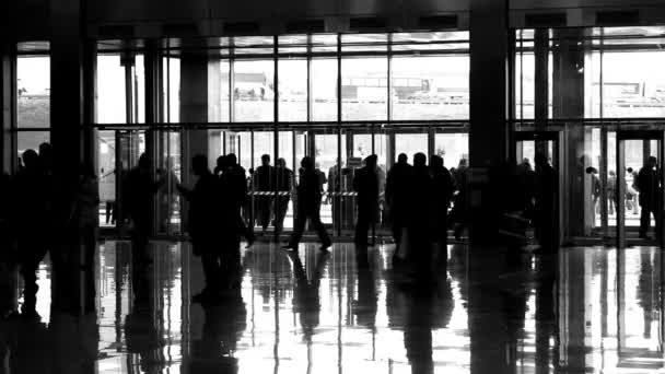 Silhouette in enter hall