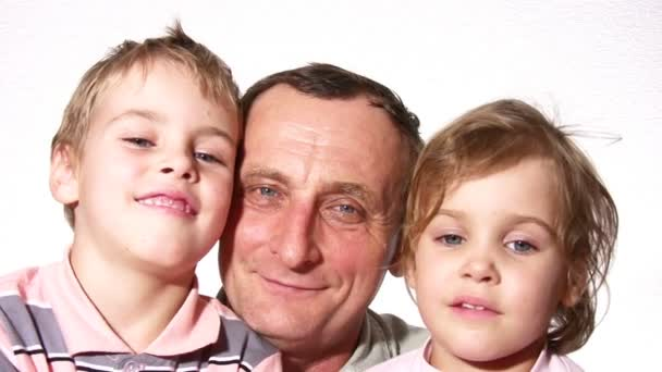 Grandfather with children
