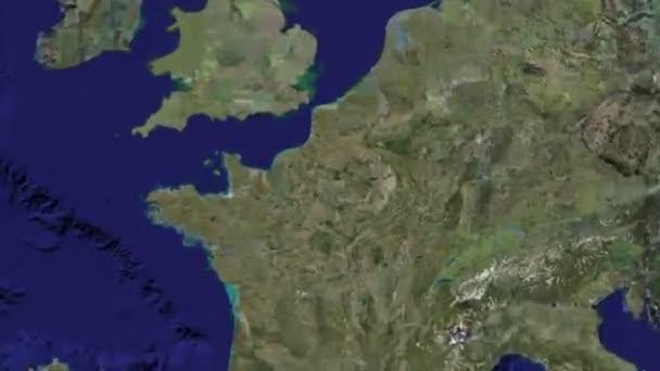 zoom do Paříže na zeměkouli. Díky nasa, google