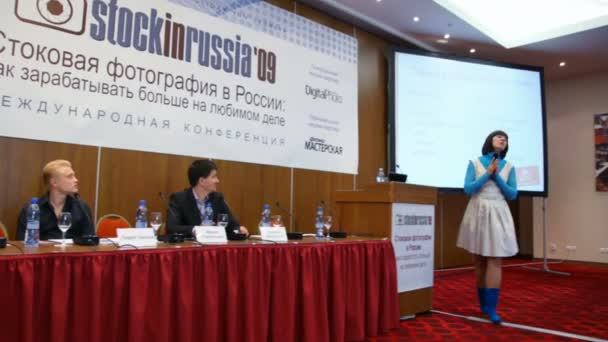 MOSCOW - OCTOBER 2: speech by Irina Terentjeva on conference STOCK in RUSSIA 09 October 2, 2009 in Holiday Inn Lesnaya, Moscow, Russia