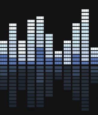 Equalizer bar vector stock vector