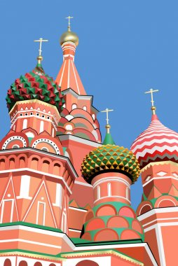 St. basil cathedral moscow vector