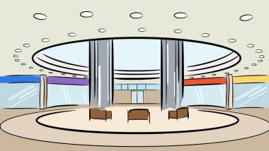 Market shop interior vector