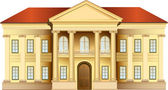 Photo Mansion with columns vector