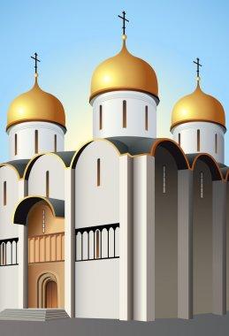 Moscow church vector