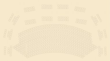 Theater scheme vector