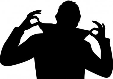 Cool man with fingers vector