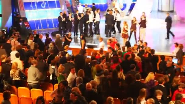 MOSCOW, MARCH 28: Audience and performers during a taping of KVN - one of most popular Russian TV-shows on March 28, 2008 in Moscow, Russia.
