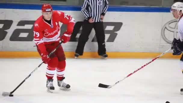 Hockey match Spartak-Almaz of MHL in sports palace Sokolniki