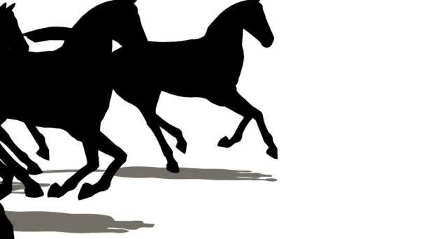 mnoho koní silueta
