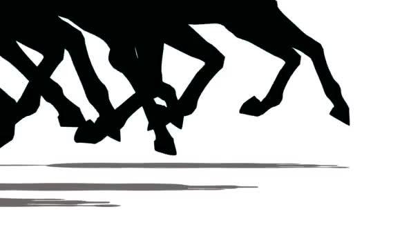 stop běžící koně, close-up.