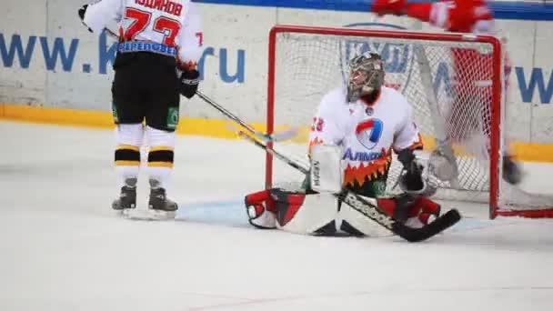 cíl v síti almaz na juniorský hokejový zápas spartak-almaz mhl